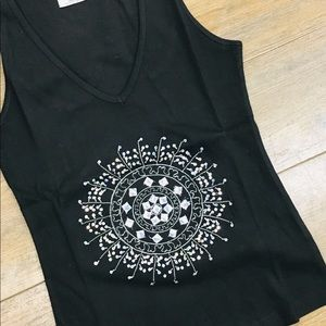 Tops - NWOT tank top sequence bling S M